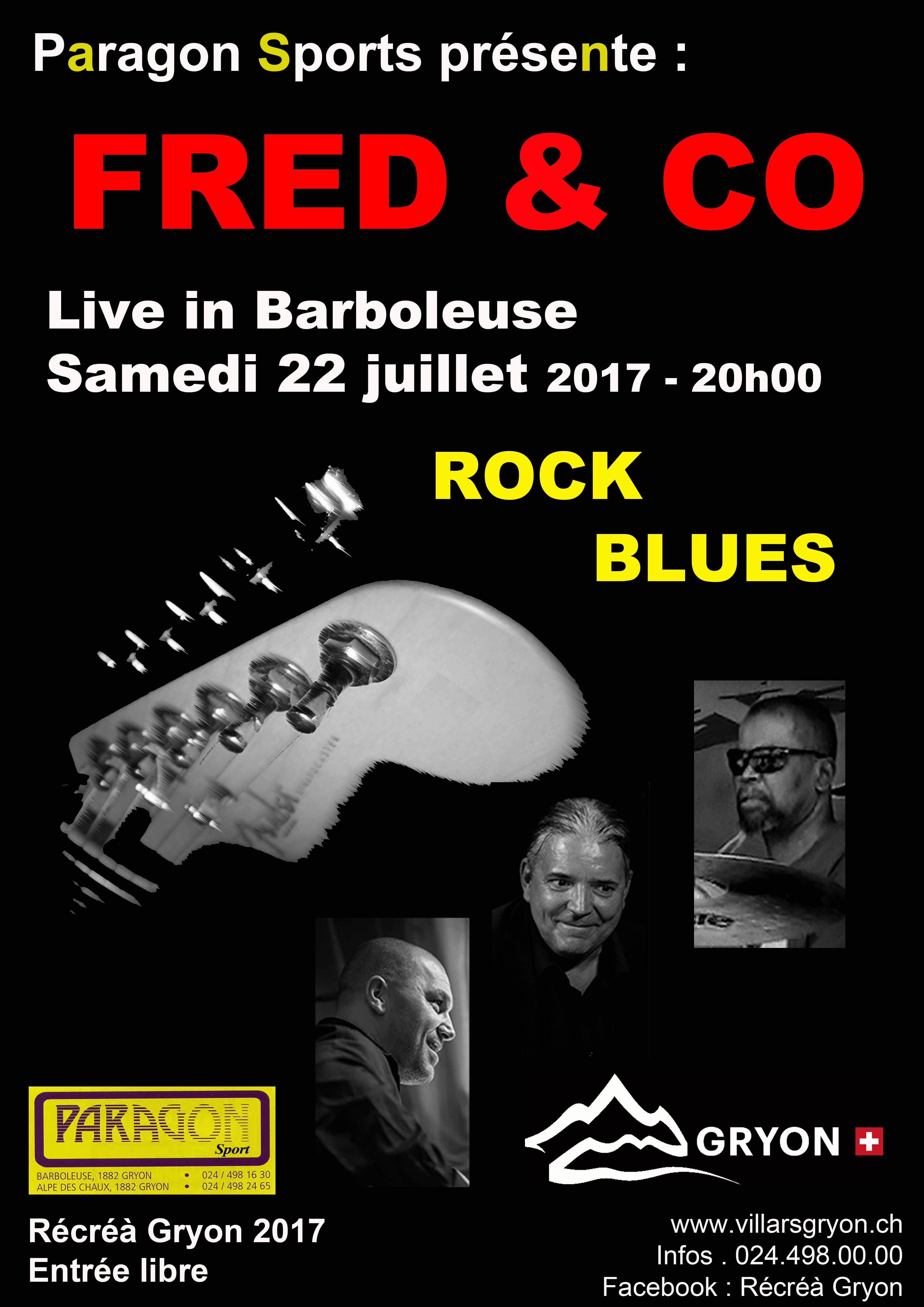 Fred & the Collective Cover en concert pour le Festival Récréà Gryon